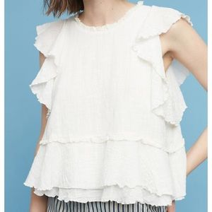 Anthropologie Maeve Cascade Tiered Blouse Sz XS